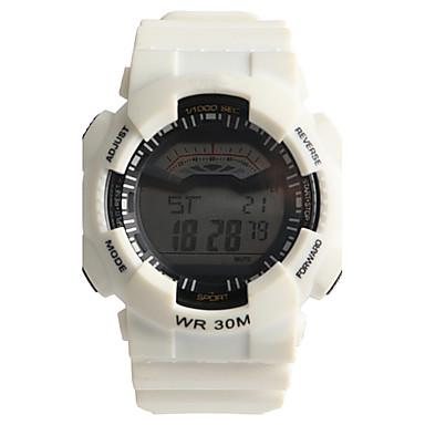 남성용 석영 디지털 디지털 시계 스포츠 시계 방수 / Plastic 밴드 캐쥬얼 화이트