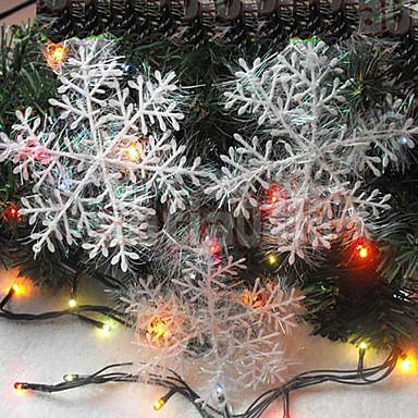 4db 10cm karácsonyi dekorációs rajz hópelyhek karácsonyi ajándék karácsonyfa díszítés