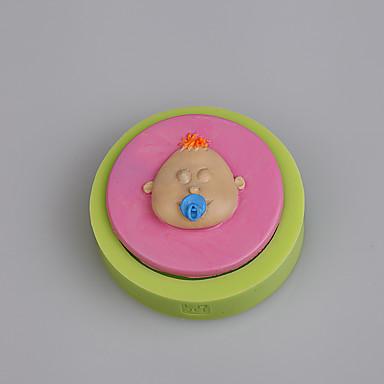 아기 액세서리 젖꼭지 젖꼭지 병 사탕 실리콘 금형 색상 랜덤 장식 케이크