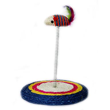 Cicajáték Játékok kisállatoknak Interaktív Ugratások Szőnyeg Egér Sisal