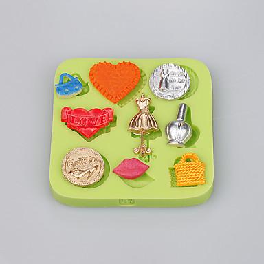 Narzędzia do pieczenia Silikonowy Ekologiczne / DIY / Modny Lód / Czekoladowy / Cupcake Formy Ciasta