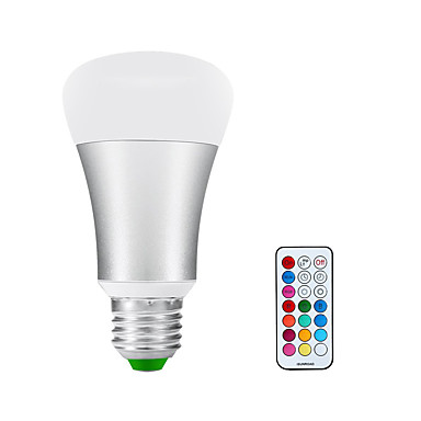 900-1200 lm E26/E27 LED gömbbúrás izzók A60(A19) 1 led COB Infravörös érzékelő Tompítható Meleg fehér RGB AC 85-265V