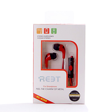 MC-858 Fülben Vezetékes Fejhallgatók Dinamikus Műanyag Mobiltelefon Fülhallgató Zajszűrő Mikrofonnal Fejhallgató