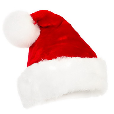좋은 품질의 짧은 치실 크리스마스 모자