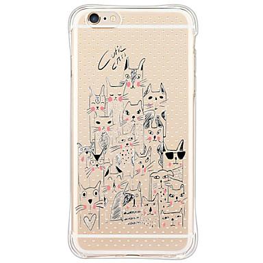 용 아이폰6케이스 / 아이폰6플러스 케이스 / 아이폰5케이스 충격방지 / 투명 / 패턴 케이스 뒷면 커버 케이스 고양이 소프트 TPU Apple iPhone 6s Plus/6 Plus / iPhone 6s/6 / iPhone SE/5s/5