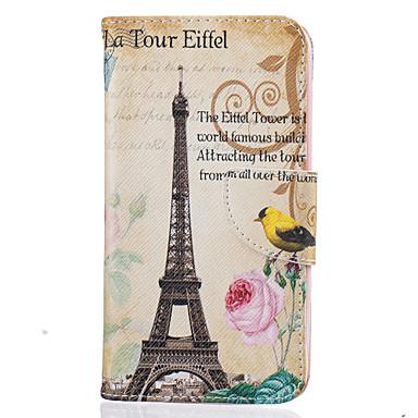 Kılıf Na LG K8 LG LG K10 LG K7 Etui na karty Portfel Z podpórką Wzór Pełne etui Wieża Eiffla Twarde Skóra PU na