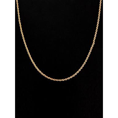 Pentru femei Lănțișoare Figaro lanț stil minimalist 18K Placat cu Aur Argilă Placat Auriu Auriu Coliere Bijuterii Pentru Nuntă Petrecere Zilnic Casual Sport