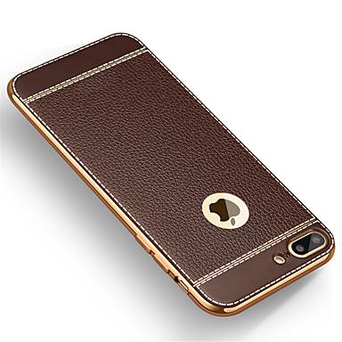 Case Kompatibilitás iPhone 7 Plus iPhone 7 Apple iPhone 8 iPhone 8 Plus iPhone 7 Plus iPhone 7 Galvanizálás Ultra-vékeny Fekete tok Tömör
