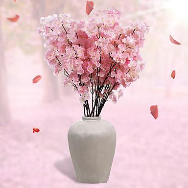 2 분기 폴리에스터 사쿠라 테이블  플라워 인공 꽃