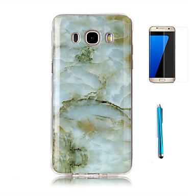 Kılıf Na Samsung Galaxy J7 (2016) J3 (2016) Wzór Czarne etui Marmur Miękkie TPU na J7 (2016) J7 J5 J3 (2016) Grand Prime