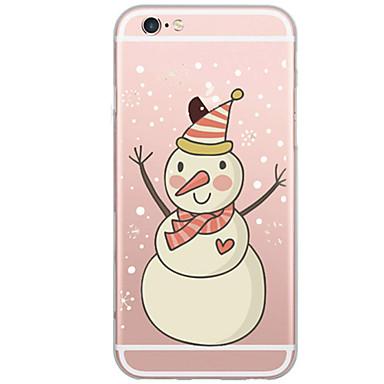 Mert Ultra-vékeny / Áttetsző Case Hátlap Case Karácsony Puha TPU AppleiPhone 7 Plus / iPhone 7 / iPhone 6s Plus/6 Plus / iPhone 6s/6 /