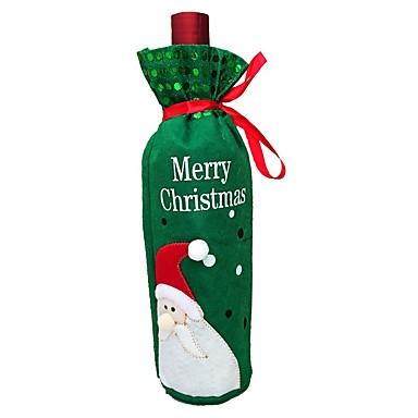 joulu 2018 punaviini 2kpl joulukoristeet joulupukki lumiukko punaviini kassi joulu  joulu 2018 punaviini