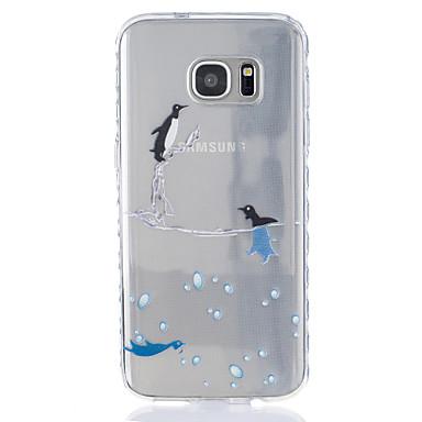 케이스 제품 Samsung Galaxy S7 edge S7 투명 패턴 뒷면 커버 동물 소프트 TPU 용 S7 edge S7 S6 S5