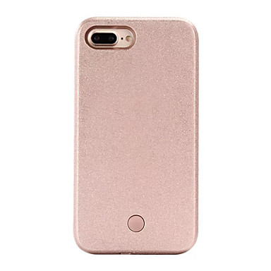Case Kompatibilitás Apple iPhone 5 tok iPhone 6 iPhone 7 LED Fekete tok Tömör szín Kemény PC mert iPhone 7 Plus iPhone 7 iPhone 6s Plus