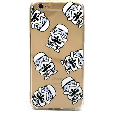 Mert iPhone 6 tok / iPhone 6 Plus tok Ultra-vékeny / Áttetsző / Minta Case Hátlap Case Rajzfilmfigura Kemény Akril AppleiPhone 6s Plus/6