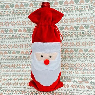 vörösboros üveg fedél táskák karácsonyi asztalnál dekoráció házibuli dekorok mikulás