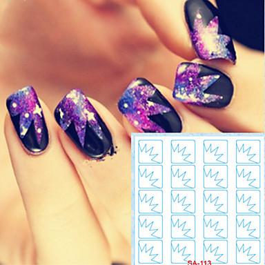 5 Nail Art matrica Diecut manikűr stencil smink Kozmetika Nail Art Design