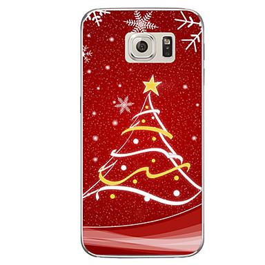 케이스 제품 Samsung Galaxy S7 edge S7 반투명 패턴 뒷면 커버 크리스마스 소프트 TPU 용 S7 edge plus S7 edge S7 S6 edge plus S6 edge S6