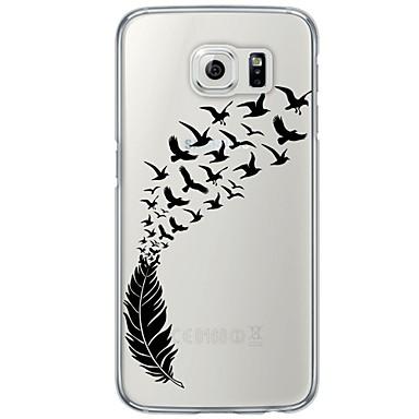 케이스 제품 Samsung Galaxy S7 edge S7 울트라 씬 반투명 뒷면 커버 깃털 소프트 TPU 용 S7 edge S7 S6 edge plus S6 edge S6 S5 S4