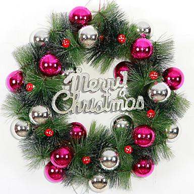 karácsonyi koszorú 3 szín tűlevelek karácsonyi dekoráció házibuli átmérője 36cm navidad új év kellékek