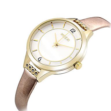 여성용 손목 시계 패션 시계 캐쥬얼 시계 석영 / 가죽 밴드 캐쥬얼 우아한 멋진 블랙 블루 브라운 핑크 로즈