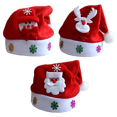 3PCS / 많은 크리스마스 선물 크리스마스 모자 아이 모자 아이 단락 데칼 크리스마스 만화 아이 캡 모자