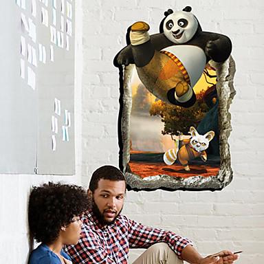 Zwierzęta Moda 3D Naklejki Naklejki ścienne lotnicze Naklejki ścienne 3D Dekoracyjne naklejki ścienne Dekoracja domowa Naklejka Ściana