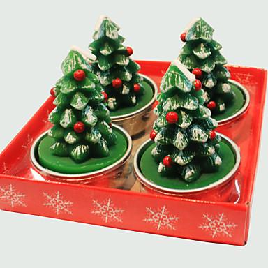 karácsonyi gyertya aranyos karácsonyfa kapocs 4 db