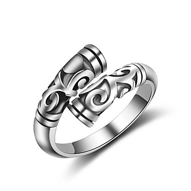 Men's Women's Band Rings Knuckle Ring Jewelry Sexy Fashion Adjustable Adorable Hip-Hop Multi-ways Wear Crossover Rose Gold Sterling Silver