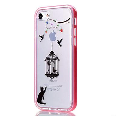 용 아이폰7케이스 / 아이폰6케이스 / 아이폰5케이스 투명 / 패턴 케이스 뒷면 커버 케이스 동물 소프트 TPU Apple아이폰 7 플러스 / 아이폰 (7) / iPhone 6s Plus/6 Plus / iPhone 6s/6 / iPhone