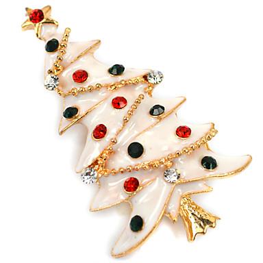 여성용 모조 다이아몬드 브로치 - 크리스마스 화이트 브로치 제품 일상 / 캐쥬얼
