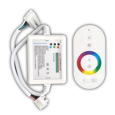 billige LED-tilbehør-zdm 1pc hvid fjernbetjening 216w trådløs touch rbg led lys bar controller / receiver dc12-24v