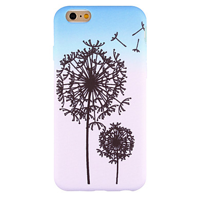 For iPhone 6 Case iPhone 6 Plus Case iPhone 5 Case Case Cover Pattern Back Cover Case Dandelion Soft Silicone for AppleiPhone 6s Plus