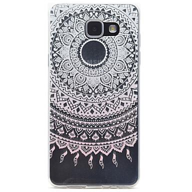케이스 제품 Samsung Galaxy A5(2016) A3(2016) 투명 패턴 뒷면 커버 레이스 인쇄 소프트 TPU 용 A5(2016) A3(2016)