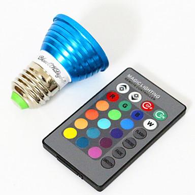 YouOKLight 3W 200-250lm E26 / E27 LED 스팟 조명 MR16 1 LED 비즈 고성능 LED 장식 RGB 85-265V