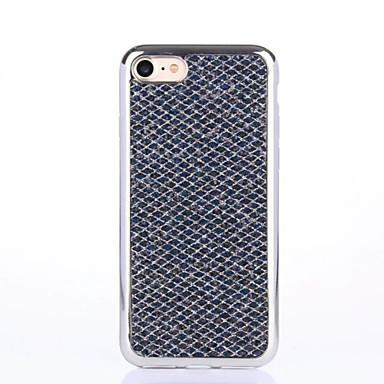 Kılıf Na Apple iPhone X iPhone 8 iPhone 6 iPhone 7 Plus iPhone 7 Stras Galwanizowane Ultra cienkie Czarne etui Połysk Miękkie TPU na