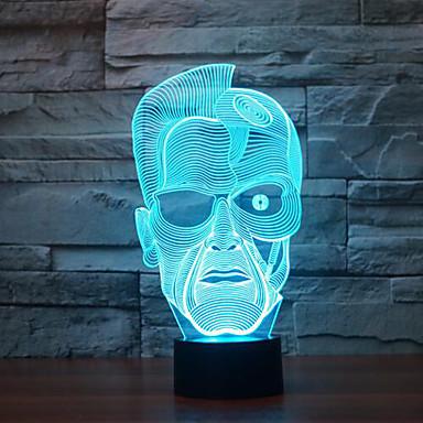 Schwarzenegger érintse fényerő 3d led éjszakai fény 7colorful dekoráció hangulat lámpa újdonság világítás karácsonyi fény