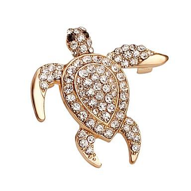 Homens Mulheres Broches Fashion Cristal Dourado Jóias Para Casamento Festa Ocasião Especial Aniversário Presente Diário Casual