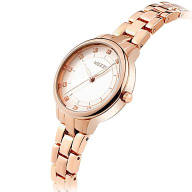 KEZZI Mulheres Relógio de Pulso Quartzo Legal imitação de diamante / Aço Inoxidável Banda Analógico Casual Fashion Elegante Prata / Ouro Rose - Prata Ouro Rose