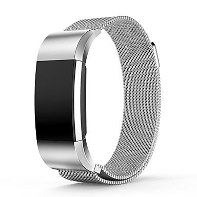 Watch Band na Fitbit Charge 2 Fitbit Pasek sportowy Metalowa bransoletka Stal nierdzewna Opaska na nadgarstek