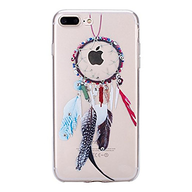 Mert iPhone 7 tok / iPhone 7 Plus tok Átlátszó / Minta Case Hátlap Case Toll Puha TPU Apple iPhone 7 Plus / iPhone 7