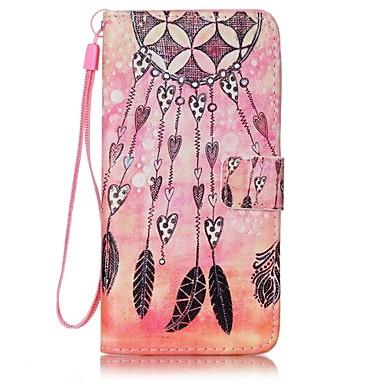 A huawei p9 lite y5ii szélcsengő festett kártya stent pu bőr mobiltelefon holster telefon tok a huawei p9 lite y5ii y6ii