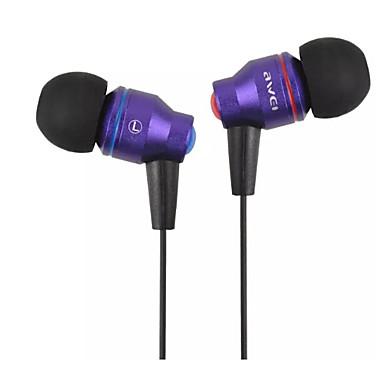 AWEI ES-800i W uchu Przewodowy / a Słuchawki Aluminum Alloy Telefon komórkowy Słuchawka z mikrofonem Zestaw słuchawkowy