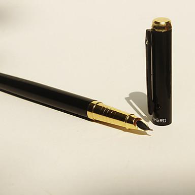 펜 펜 분수 펜 펜, 스테인레스 블랙 잉크 색상 For 학용품 사무용품 팩