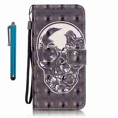 Etui Käyttötarkoitus Samsung Galaxy A5(2016) A3(2016) Lomapkko Korttikotelo Tuella Kokonaan peittävä Pääkallot Kova PU-nahka varten
