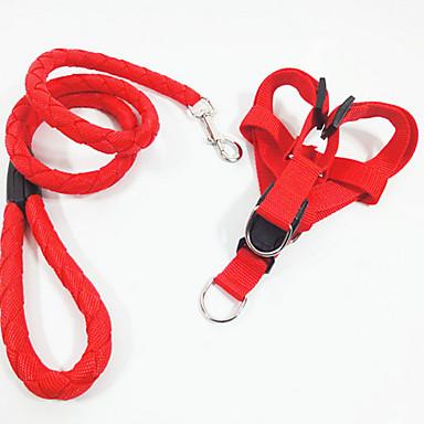 Σκύλος Εξαρτύσεις Ασφάλεια Μονόχρωμο Ντένιμ Μαύρο Κόκκινο Πράσινο