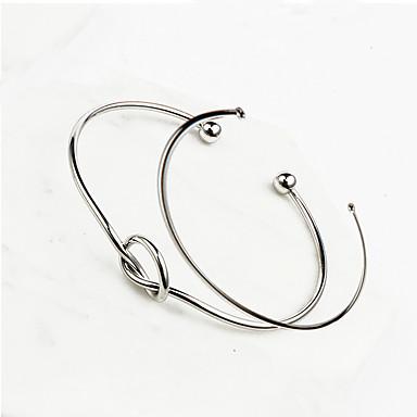 Női Bilincs karkötők Ötvözet minimalista stílusú Arany Ezüst Ékszerek 2pcs