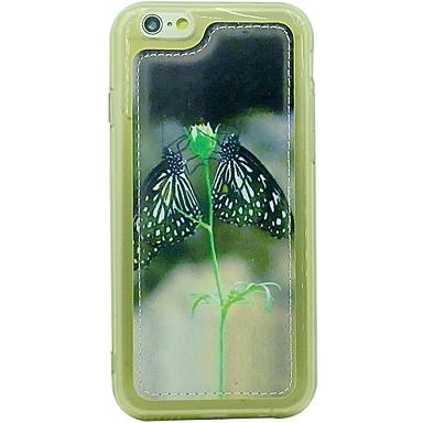 용 충격방지 케이스 뒷면 커버 케이스 버터플라이 소프트 인조 가죽 용 Apple iPhone 6s/6