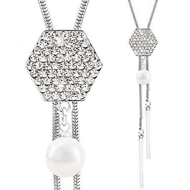 Damskie Naszyjniki z wisiorkami Breloczki Geometric Shape Imitacja diamentu Stop Luksusowy Wiszący euroamerykańskiej Modny Biżuteria Na