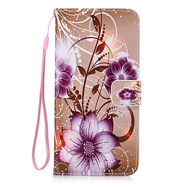Varten Lomapkko / Korttikotelo / Tuella / Flip Etui Takakuori Etui Kukka Kova Tekonahka varten AppleiPhone 7 Plus / iPhone 7 / iPhone 6s
